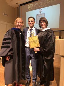 President Margaret Ewalt, Dr. Dean Franco, Secretary Rebekah Morris